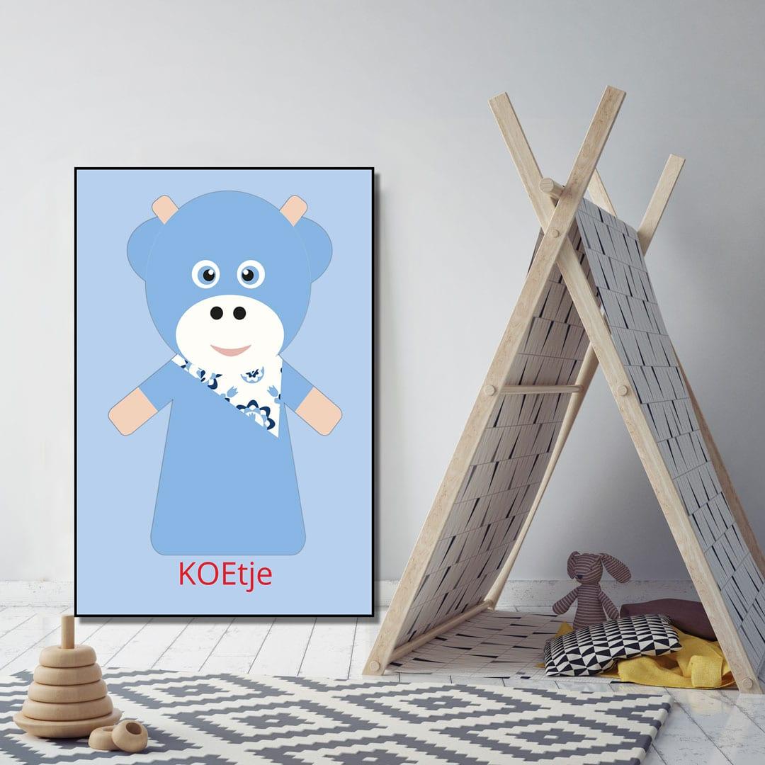 WANDenWOONdeco.nl kinderkamer frame KOEtje