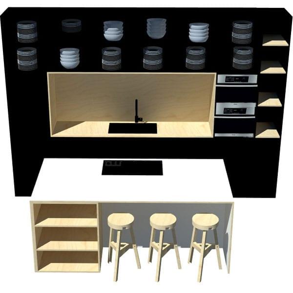 STUDIOtnw keuken 3D