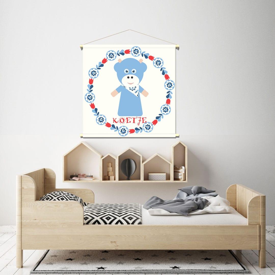 WANDenWOONdeco.nl kinderkamer textielposter FRIENDS