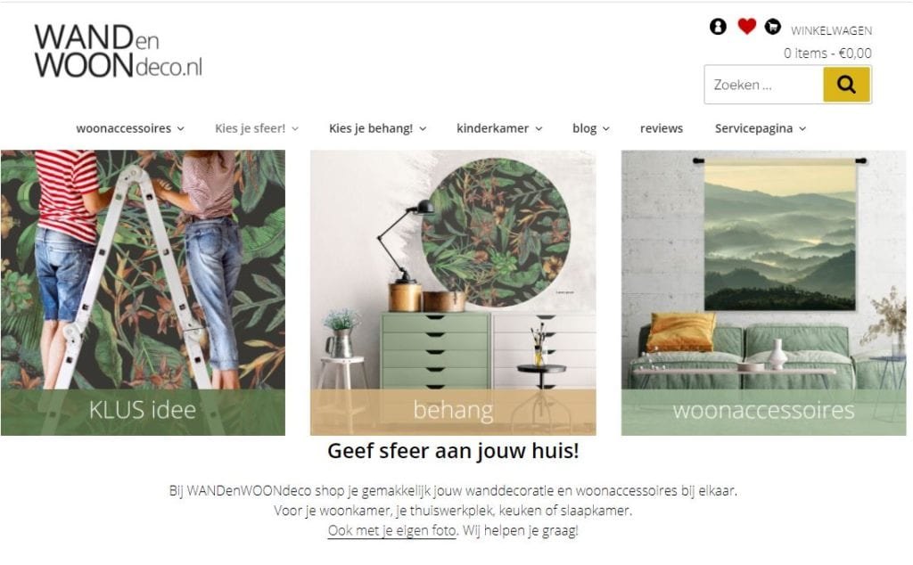 online woonwinkel WANDenWOONdeco